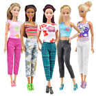 5 Tops+5 Pants Fashion Gift Casual Summer Clothes Outfit for Barbie Doll Finest