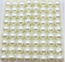 50 pcs beautiful Glass pearls Czech republic interval beads Rice white 8 mm