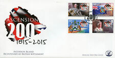 Ascension Is 2015 FDC 200 Bicent British Settlement 4v Cover George III Stamps