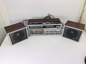 VTG General Electric GE AM/FM Stereo Clock Radio Cassette Player Recorder works