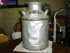 Old Antique Nwd Gray Milk Can Lawn & Garden Decor No Lid Has Dents Cg2654