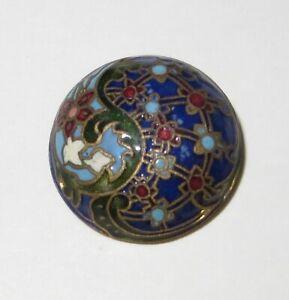 Antique Victorian French Enamel Cloisonné Button