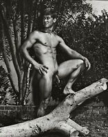 1950s BRUCE BELLAS of Los Angeles Male Nude Muscle Gay Int Photo Engraving 11X14