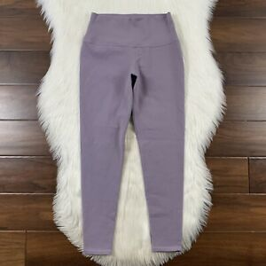 Alo Yoga Women's Size Medium Light Purple Crop Leggings Pants High Rise