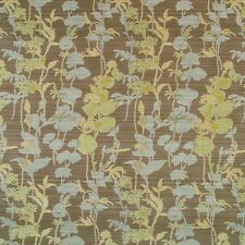 Brown Tan Blue and Green Floral Botanical Crypton Upholstery Fabric 0464850