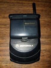 MOTOROLA STARTAC 7867W VINTAGE FLIP FLOP CELL PHONE CELLULAR TELEPHONE CDMA RARE