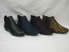 No Pattern Slip on Block Ankle Women's Boots
