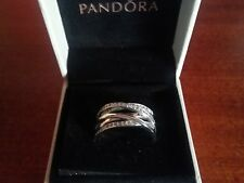 Genuine Authentic PANDORA Silver Entwining Ring 190919CZ Size 54