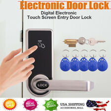 Electronic Code Keyless Touch Keypad Security Entry Smart Door Lock 5 RFID Card