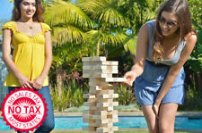 Giant Jenga Hardwood Game, Starts At 18 Inches High And Can Stack To Over 3 Feet