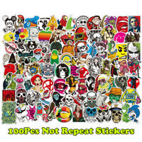 100Pcs Mixed Stickers for Luggage Laptop Decal Bike Snowboard Funny Cool Sticker