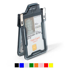 Identity Stronghold Classic - RFID Blocking Secure ID 1 Card Badge Holder USA