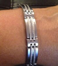 "8"" Stainless Steel Men's Bracelet D19"