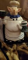 Vintage Garden Ridge Chef Pig Cookie Jar