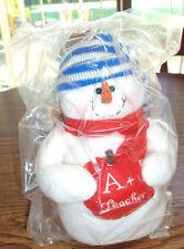 Plush A+ Teacher Snowman - Brand New