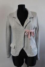 ODD MOLLY Damen Jacke Gr. 1 / S Grau Baumwolle bestickt Cardigan 5&