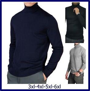dolcevita da uomo maglione collo alto taglie forti maglia a lupetto 3xl 4xl 5xl