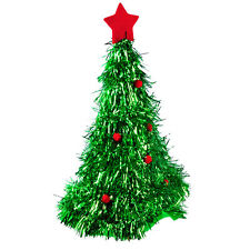 Unisex Christmas Xmas Tree Hat Fancy Cap Red Ornaments Costume Accessory Party