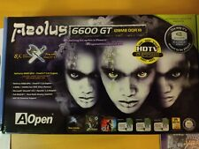 Aopen Aeolus GeForce 6600 GT New in box! 6600GT-DV128 AGP 128MB DDR3