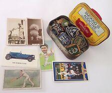 Erinmore Flake Tobacco Tin Cigarette Cards Bowling Club Pin Badge Lot (B66)