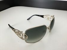 Blumarine Bm96582 Sunglasses Black Lens & Frame With Silver Made In Italy Gc