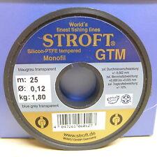 STROFT Vorfachmaterial GTM 25 Meterspule 0,12mm Durchmesser  Tragkraft 1,8kg