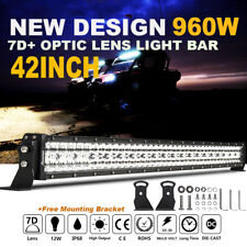 "7D+ 42Inch 960W CREE Led Work Light Bar Spot Flood Driving Truck Lamp 43"" 44"" RV"