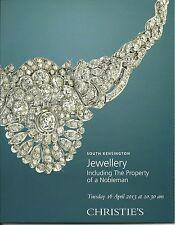 CHRISTIE'S SK JEWELS Bulgari Cartier Chopard Patek Tiffany Nobleman Coll Catalog