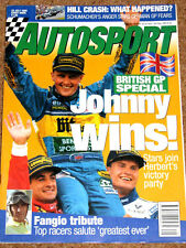 Autosport 20/7/95* HERBERT'S BRITISH GP -  FANGIO TRIBUTE ISSUE