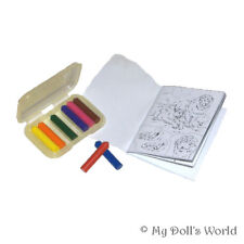 Crayons Set - School Accessories Fit American Girl - Supplies For 18 Inch Doll