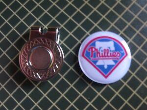 GOLF / Philadelphia Phillies Logo Golf Ball Marker/with Magnet Hat Clip New!!