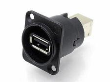 Neutrik NAUSBWB, USB da Pannello passante da tipo A a tipo B, colore Nero