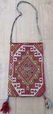 Antique Turkish caucasienne kurde soumac Kilim Kelim Rug chanteh Tente Sac