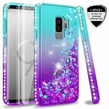Samsung Galaxy S9 Plus Case (Not Fit S9) with 3D PET Screen Protector [2 Pack] f
