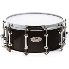 Pearl Reference Pure Piano Black 14x6.5 Snare Drum - Worldship - Free USA Ship!