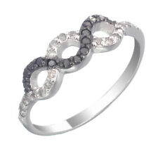 Sterling Silver Black Diamond Ring (0.35 CT) In Size 7