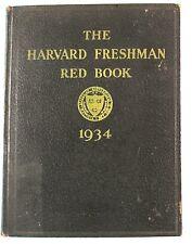 1934  The Harvard College Freshman Red Book, Photographs Freshman Class