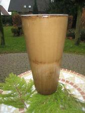 Vase Blumenvase Bodenvase Hochwertig braun beige glasiert 38 cm Höhe antik neu