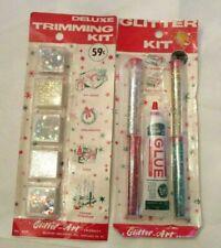 2 Vintage Unopened Craft Glitter Sets NIP