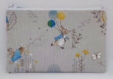 Gorgeous Peter Rabbit Fabric Handmade Zippy Coin Money Purse Storage Pouch