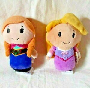 """Hallmark Itty Bittys Elsa and Anna Plush Mini Dolls Disney's Frozen 4"""" Tall"""