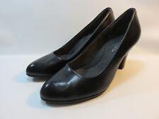 "AEROSOLES ""Tapestry"" Black Leather Classic Heels Women's Size 8.5 Medium EUC"