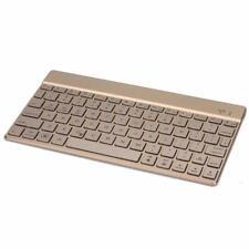 Bluetooth Tastatur F3S aus Aluminiumlegierung Hintergrundbeleuchtung QWERTZ Gold