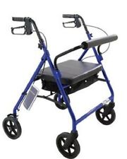 Big And Tall Rollator Rolling Walker Aluminum HEAVY DUTY WIDE BARIATRIC Rollator