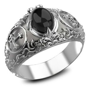 Onyx Seal Sigil of Lilith Sigil of lucifer Ring 925 Sterling Silver Size 6-15