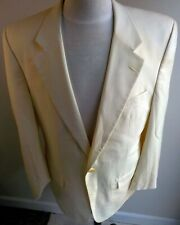 BURBERRY Off White 2 Button Dinner Jacket 100% Pure Wool SZ 42R??