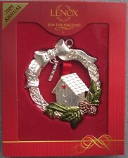 Lenox Ornament Bless This Home With Wreath and Bird House New in Box