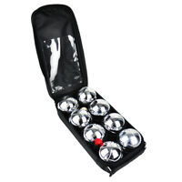 8pc Steel French Boules Set Petanque Balls Garden Game Free Carry Case NEW Fun