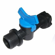 2x Maze WATER TANK VALVE + Fixing Nut & Rubber Washers, Threaded Ends *AUS Brand