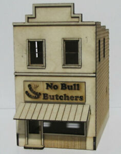 """Trackside Models - HO Scale - Laser Cut """"Butcher Store"""" - SM1063"""